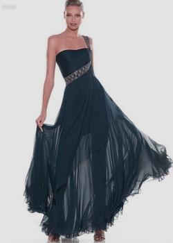 Платье синее с узорами